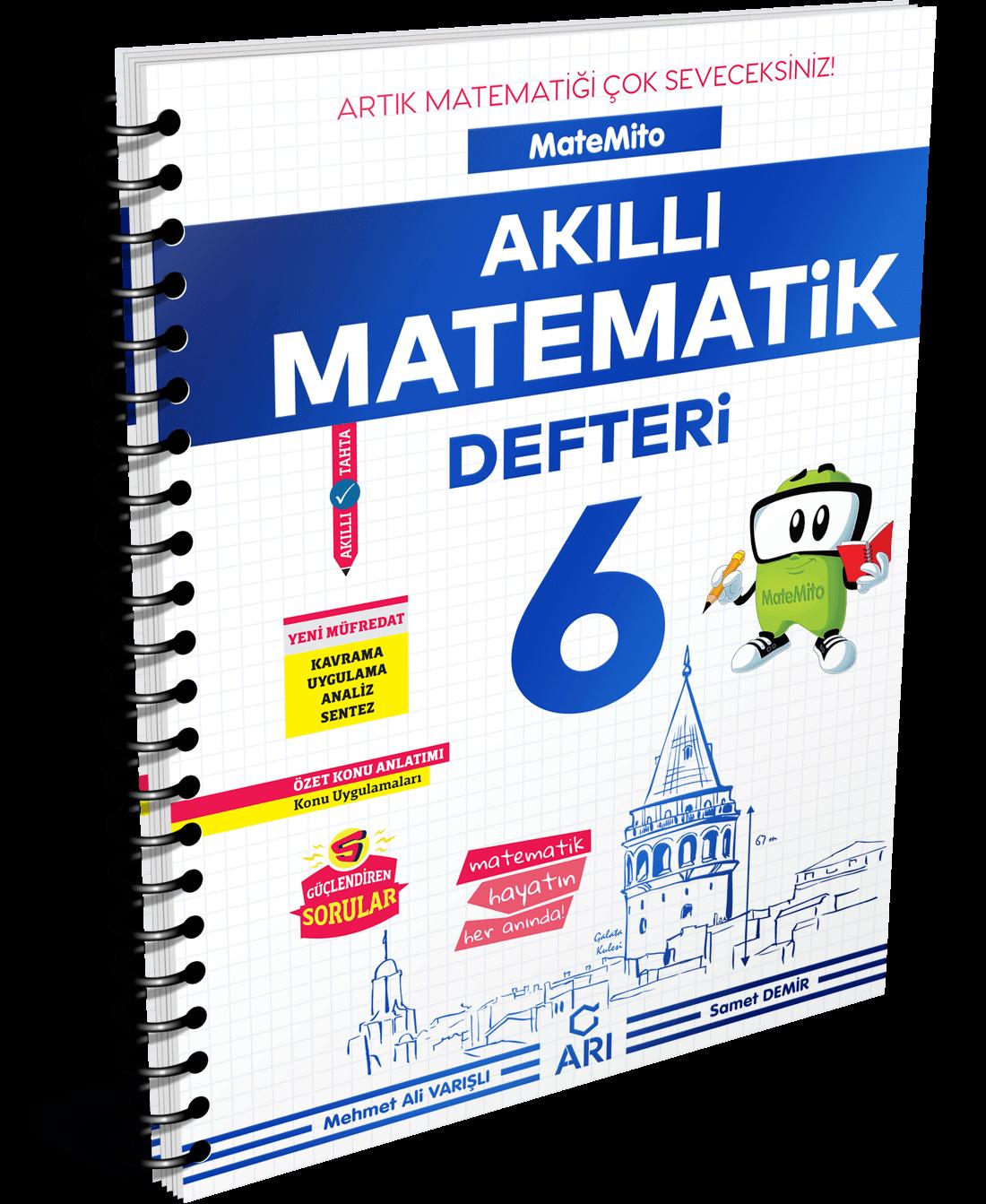 Matemito Akıllı Matematik Defteri 6. Sınıf