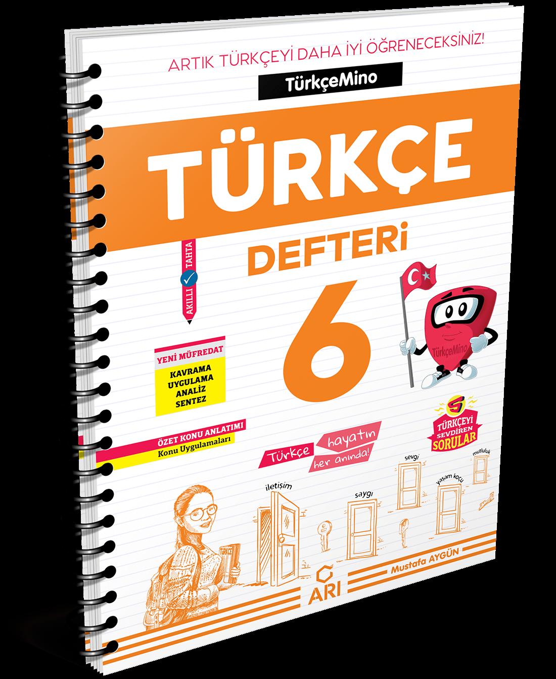 TürkçeMino Türkçe Defteri 6. Sınıf