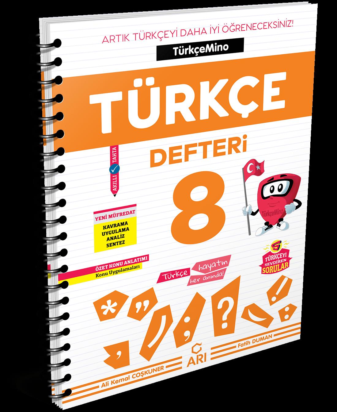 Türkçemino Türkçe Defteri 8. Sınıf