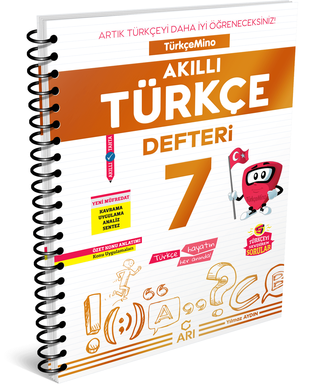 Türkçemino Akıllı Türkçe Defteri 7. Sınıf