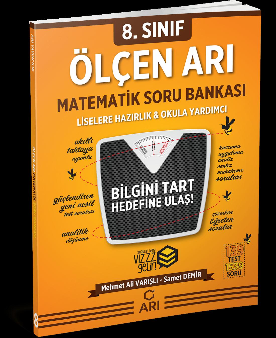 Ölçen Arı Matematik Soru Bankası 8. Sınıf (LGS Hazırlık)
