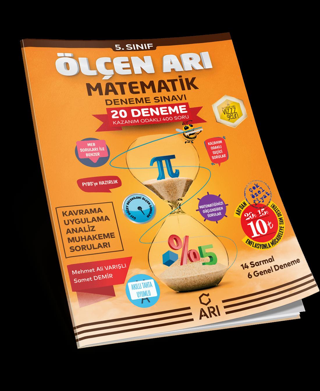 Ölçen Arı Matematik Deneme Sınavı 5. Sınıf
