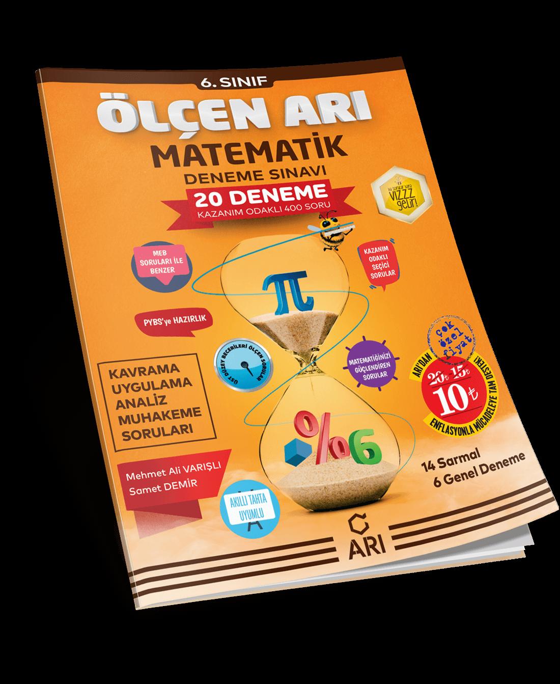 Ölçen Arı Matematik Deneme Sınavı 6. Sınıf