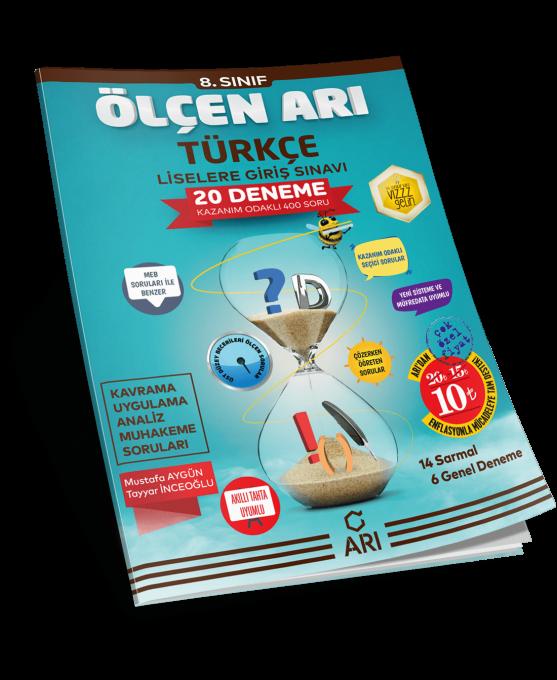 ölçen Arı Türkçe Deneme Sınavı 8 Sınıf Lgs Hazırlık Arı Yayın