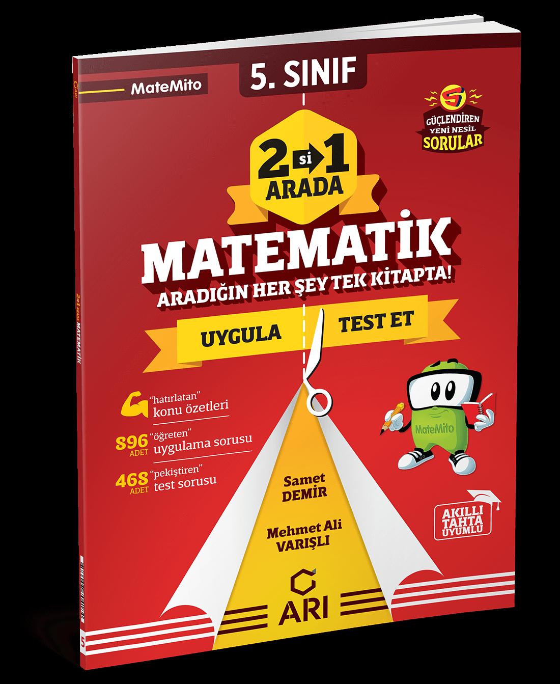 5.Sınıf Matemito 2'si 1 Arada Matematik