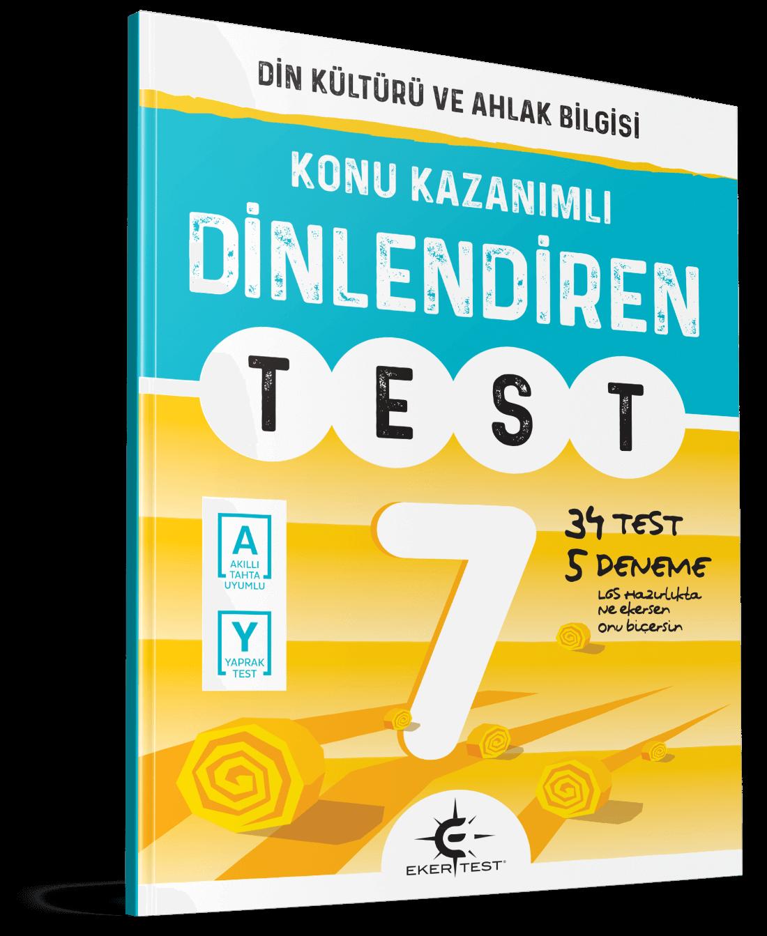 7. Sınıf Dinlediren Test Eker Test Yayınları
