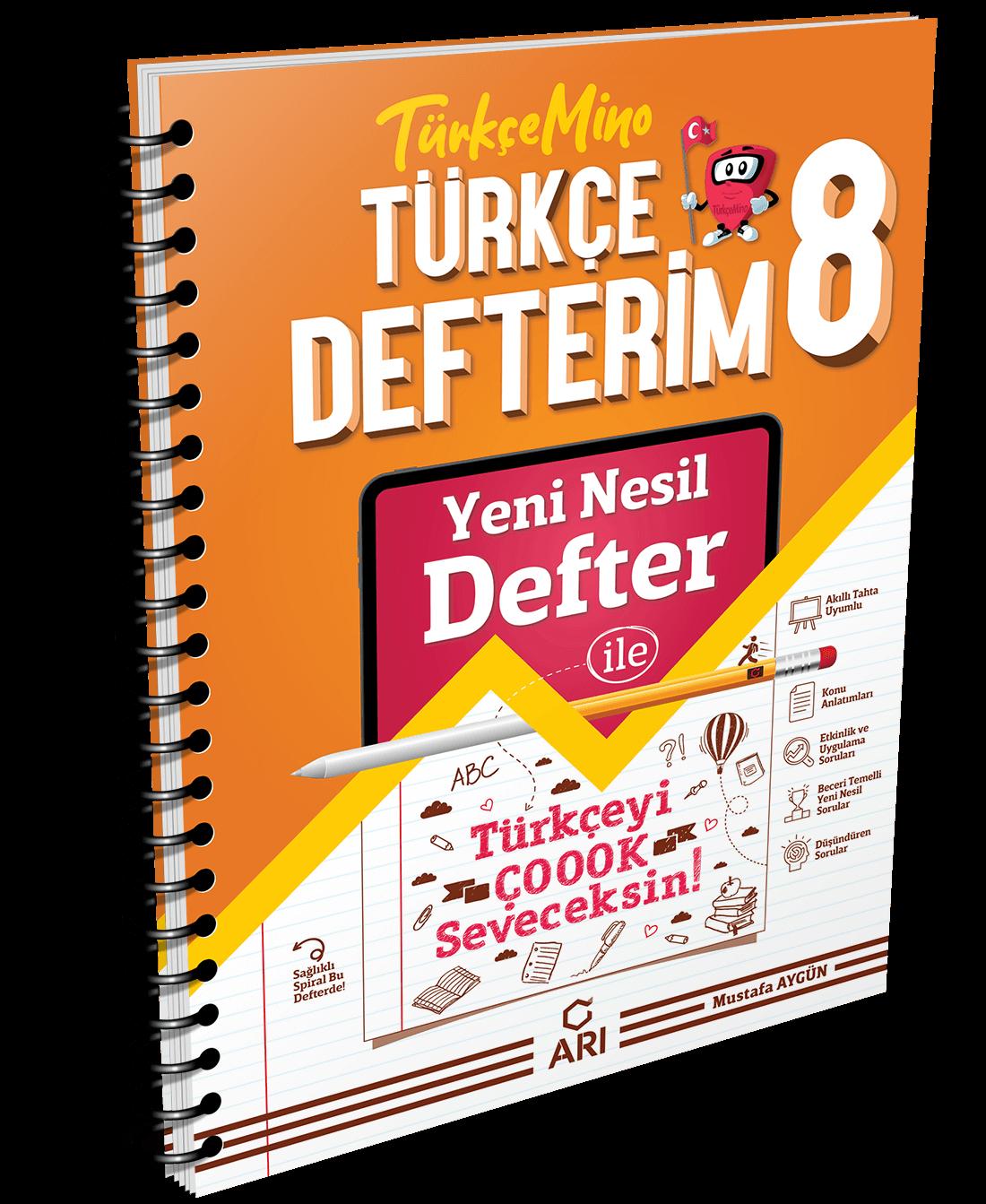 TürkçeMino Türkçe Defterim 8. Sınıf