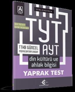 Eker Test – TYT – AYT Din Kültürü ve Ahlak Bilgisi Yaprak Test